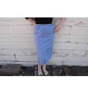 Blue/purple Pendleton wool vintage pencil skirt